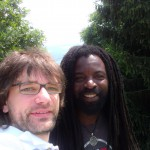 Jojo and Rocky Dawuni early in the morning